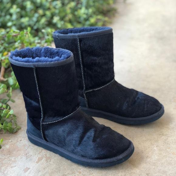 UGG Shoes - UGG Australia Midnight Blue Calf Hair Boots